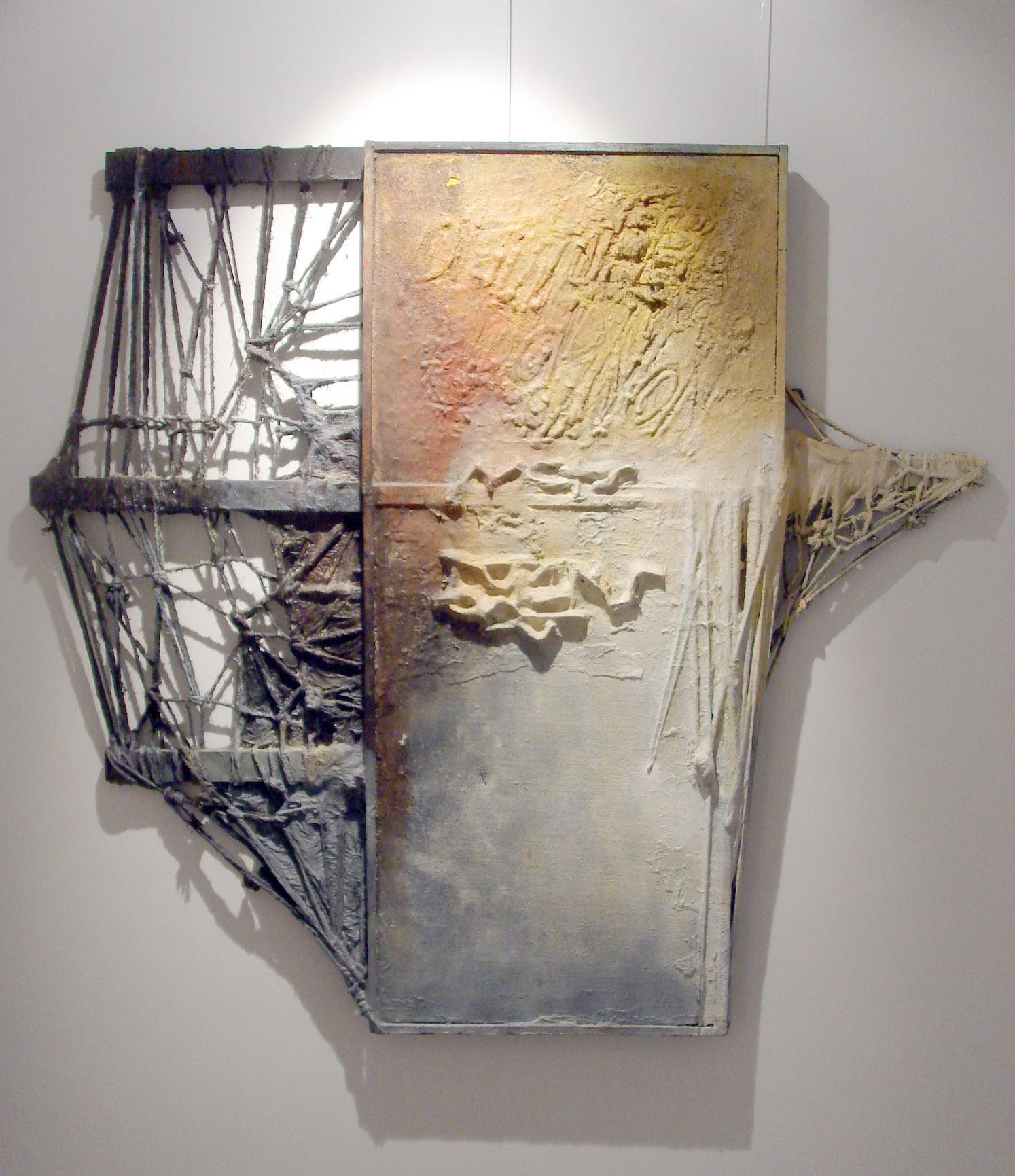 1971 Mots transparents pour un battement de coeur, œuvre tactiliste, 107 x 114 cm