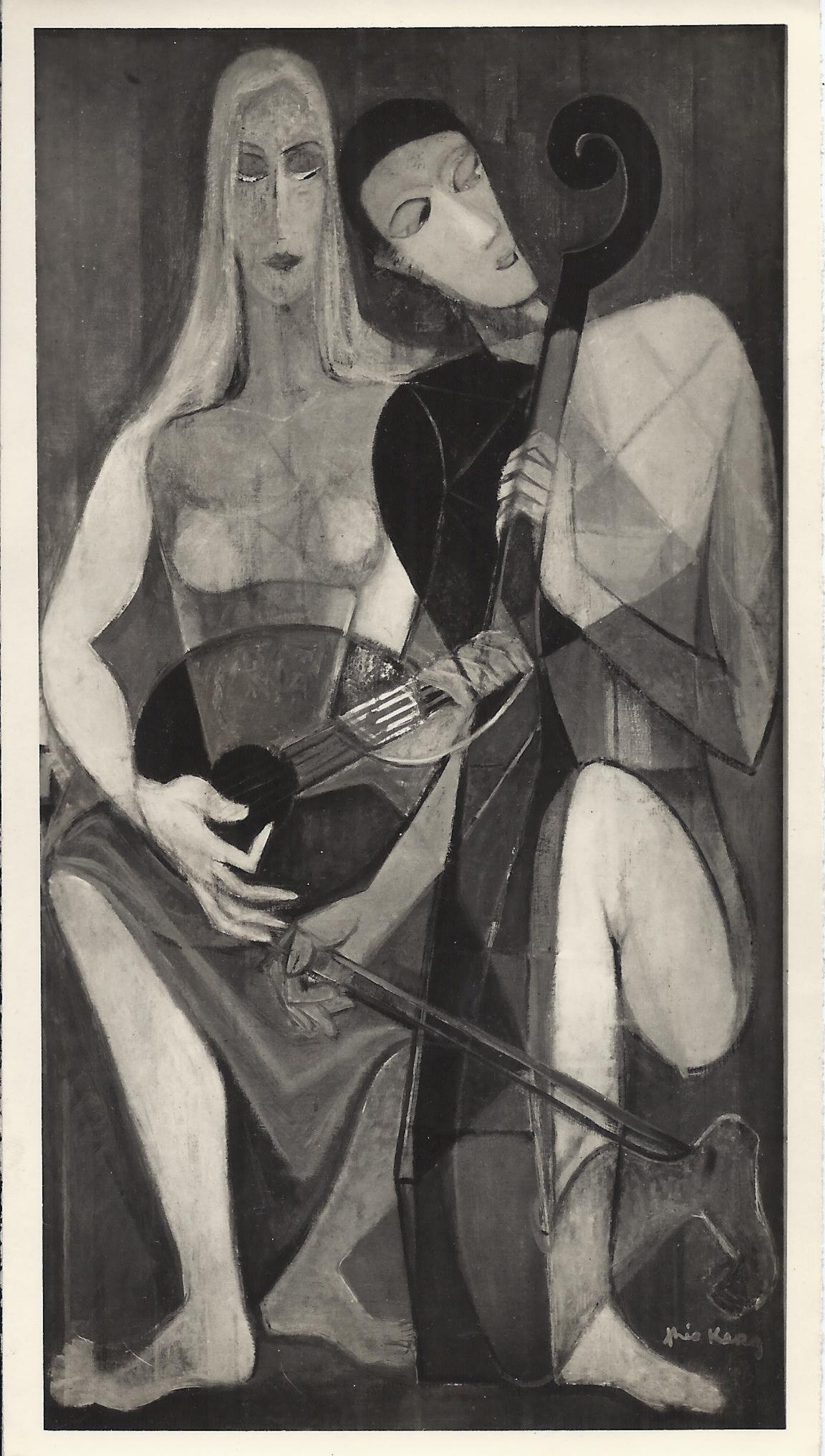 1947 Concertino, huile sur toile exposée au Salon des Indépendants, 80×150 cm