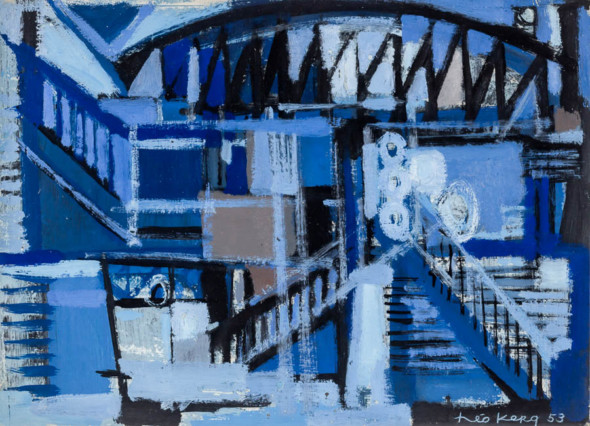 1953 Gare de l'Est, huile sur carton, 41×30 cm