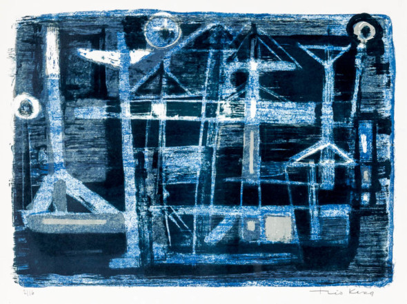 1953 Le Port Lithographie de 3/16 (50,5 x 65,5)