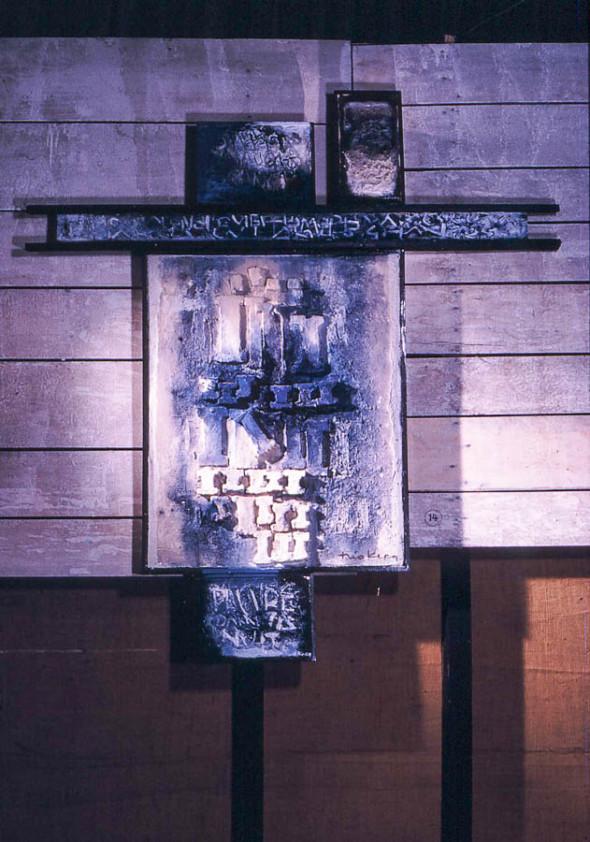 1964 Seul dans la nuit, œuvre tactiliste sur 5 registres