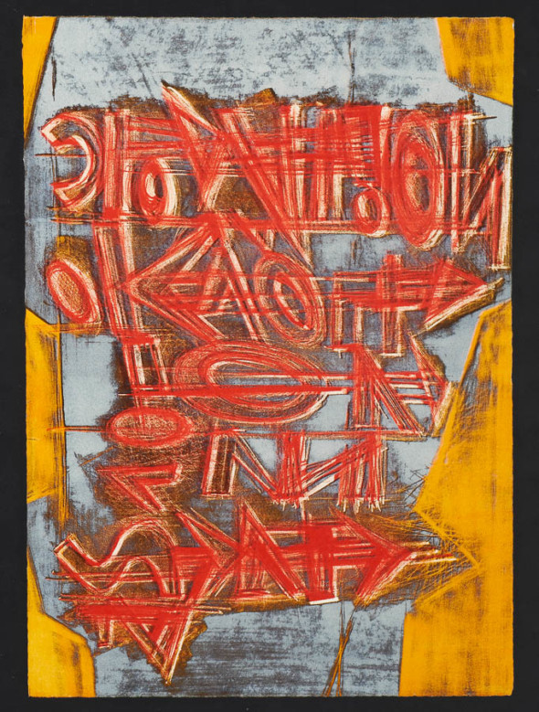 1974 Titre, oeuvre tactiliste, collection Musée d'Art Moderne Luxembourg (MNHA)