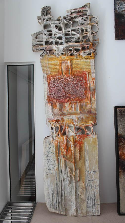 1977 Titre inconnu, oeuvre tactiliste double-face, 50×150 cm (LxH), 1974-1977