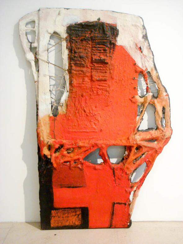 1977 Portrait d'une aide chirurgicale de la Croix-Rouge, œuvre tactiliste, 57x 82 cm