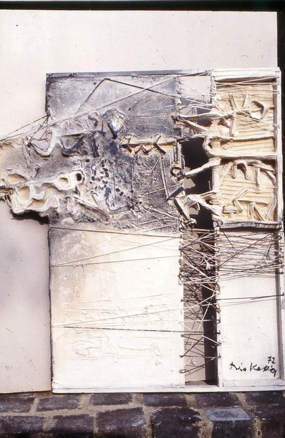 1977 Titre inconnu, tableau tactiliste sur toile