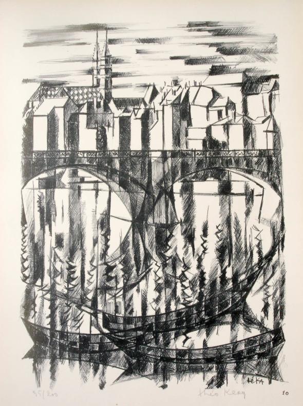 1947  Bâle 10, Balancement transparent, litho, 1.10.1947
