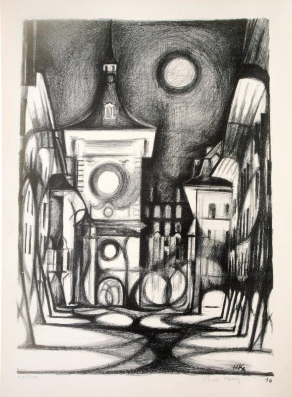 1947  Berne 10, Carrousel des ombres, litho, 1.10.1947