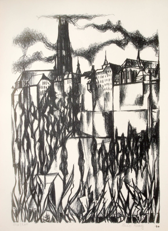 1947  Fribourg 10, Quand la terre flambe, litho, 1.10.1947