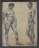 1931 Deux hommes nus, dessin sur papier, fait à l'Ecole des Beaux-Arts à Paris