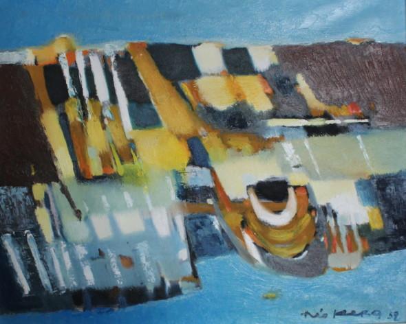 1952 Jurassien,  huile sur toile, 60 x73 cm, 20F