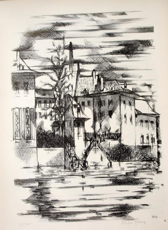 1947  Bâle 01, Arc-en-ciel, litho, 1.10.1947