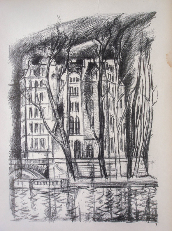 1947  Paris 02, L'île Saint-Louis, litho, 10.11.1047