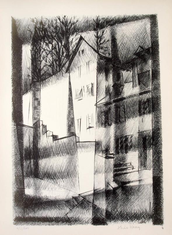 1947  Bâle 04, Derrière la trame de mes paupières, litho