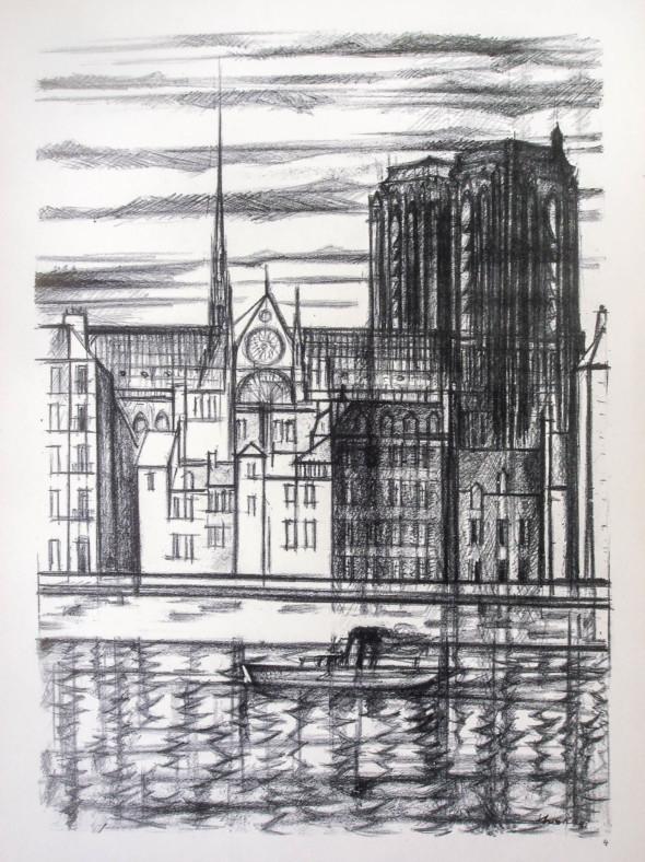 1947  Paris 04, Le Quai aux Fleurs, litho, 10.11.1947