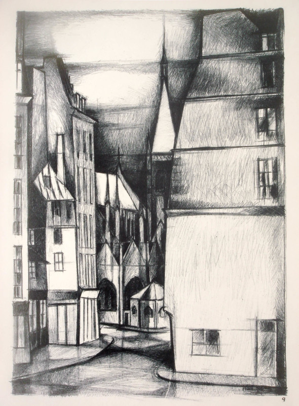 1947  Paris 09, Saint Severin, litho, 10.11.1947