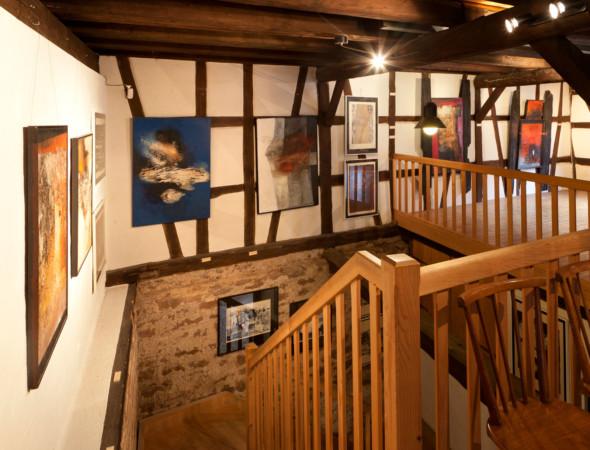 04 – Cage d'escalier vers le 1er étage – Treppenhaus zum 1. OG  © Dorothea Burkhardt, Mannheim