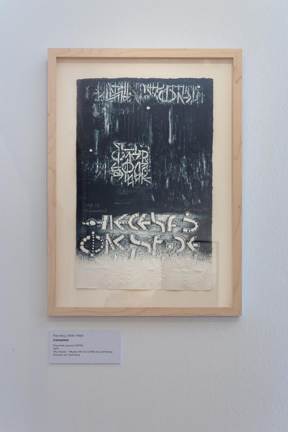 09 –L'ennemie, empreinte, gravure (1974)