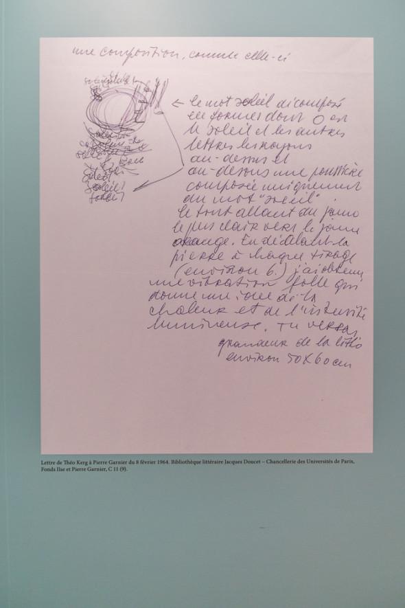 13 – Text expliquant la lithographie Soleil 2