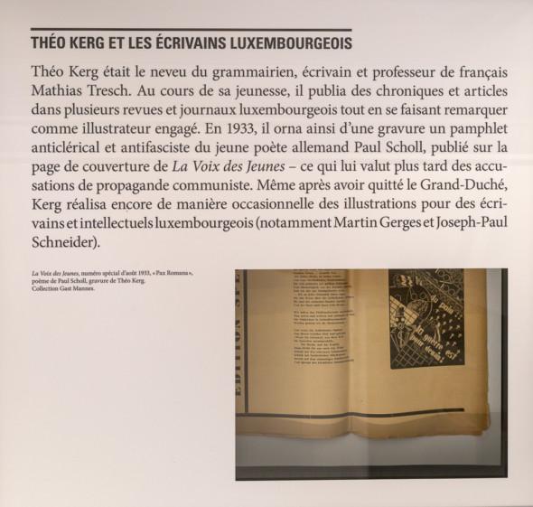 25 – La Voix des Jeunes, numéro spécial d'août 1933, «Pax Romana» poème de Paul Scholl, gravure de Théo Kerg, collection Gast Mannes