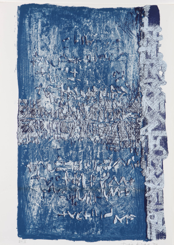 Théo Kerg, II-X, Litho, 1974, Kunstmuseum Bayreuth