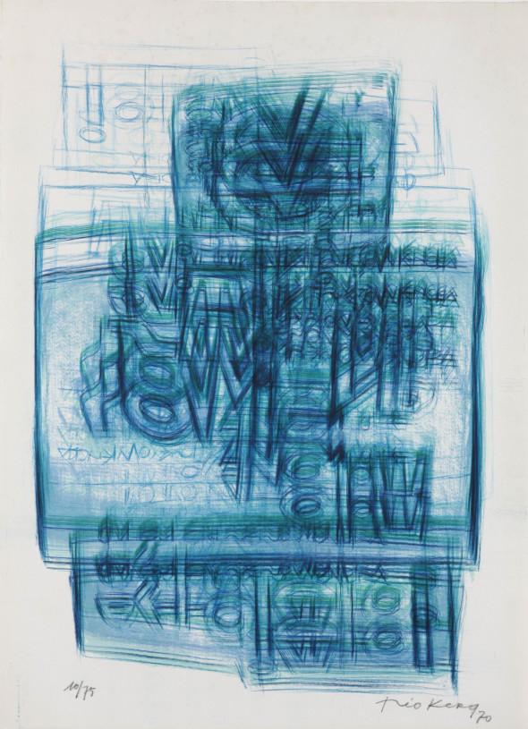 Théo Kerg, Litho 10-75, 1970, Kunstmuseum Bayreuth