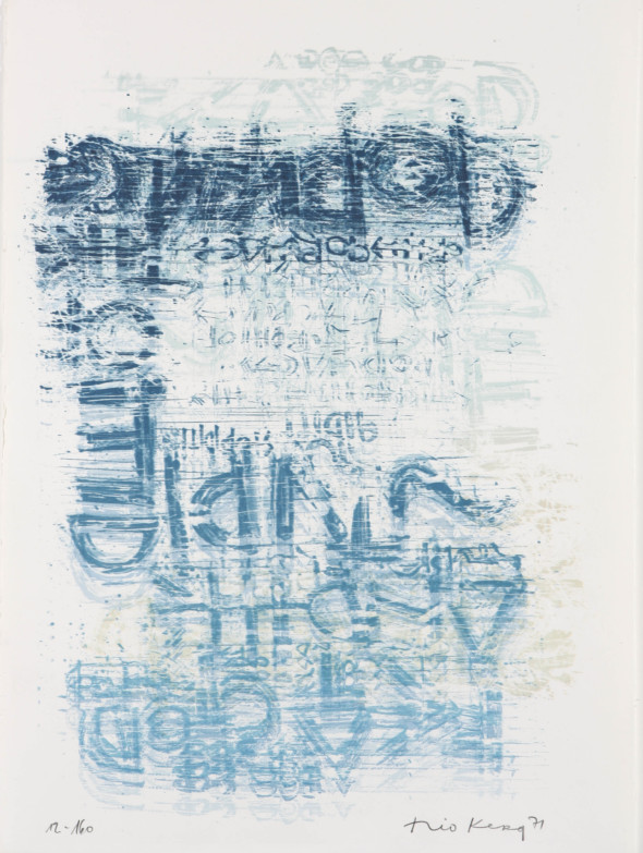 Théo Kerg, Litho 12-160, 1971, Kunstmuseum Bayreuth