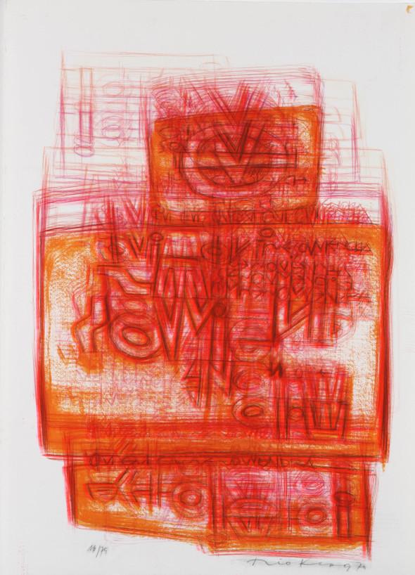 Théo Kerg, Litho 16-75, 1970, Kunstmuseum Bayreuth