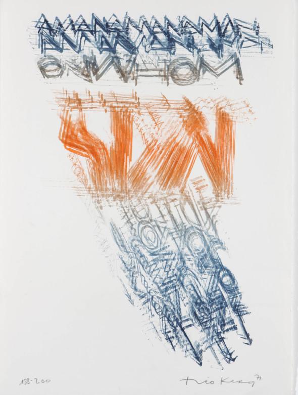 Théo Kerg, Litho 188-200, 1971, Kunstmuseum Bayreuth
