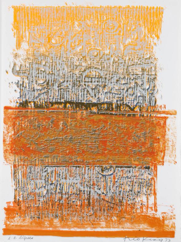 Théo Kerg, lignes, Litho, épreuve d'artiste, 1973, Kunstmuseum Bayreuth