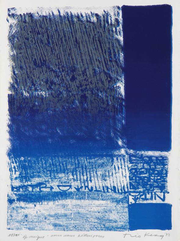 Théo Kerg, nous nous réduisons, Litho Essai, 1973, Kunstmuseum Bayreuth