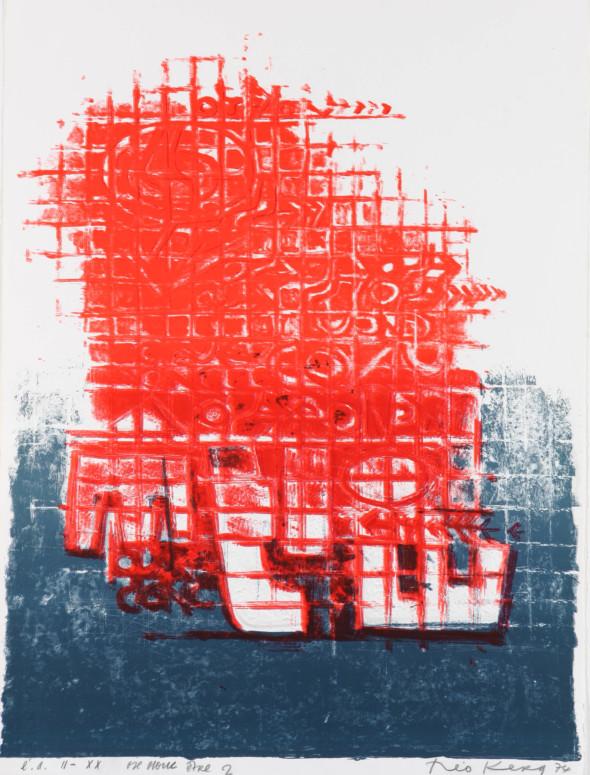 Théo Kerg, ose donc être2, II-XX,Litho, épreuve d'artiste, 1974, Kunstmuseum Bayreuth