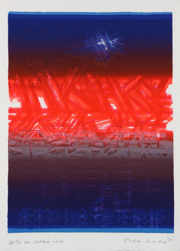 Théo Kerg, un certain soir, Litho 66-80, 1973, Kunstmuseum Bayreuth