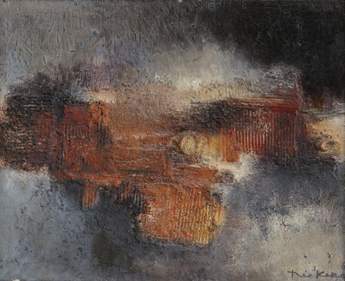 1960 Hiroshimein, oeuvre tactiliste sur toile, 80 x 100 cm