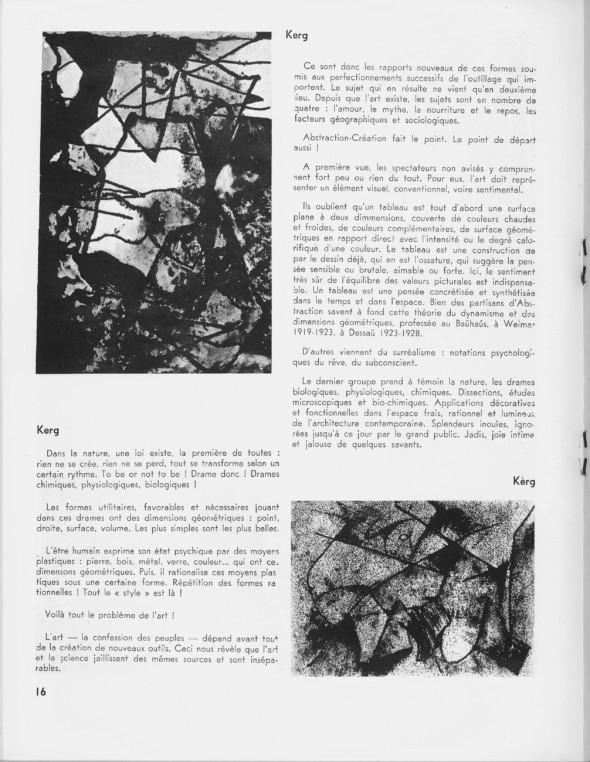 1935 Page entière de Théo Kerg dans le cahier d'abstraction-création no 4, page 16