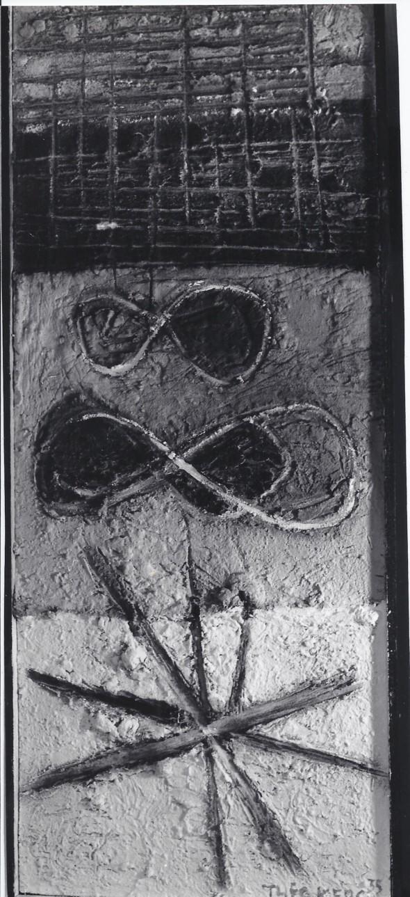1935  Formes fermées, formes ouvertes, œuvre exposée lors de l'exposition d'abstraction-  création en 1974 à Paris et en 1978 à Münster au Westfälische Landesmuseum