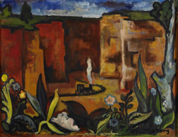 1942 Minière dans le Bassin Minier, huile sur toile