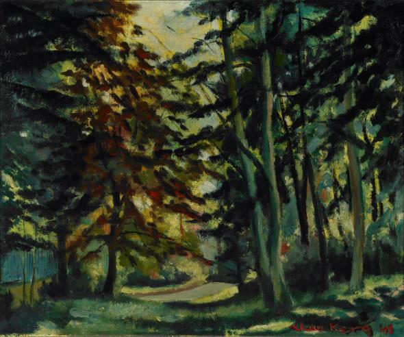 1943 Forêt sur les hauteurs d'Esch-sur-Alzette, huile sur toile