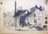 1943 Sierck-les- Bains, Place du Marché, vue à partir de la Grand-Rue, dessin à  l'encre du 24.8 1943