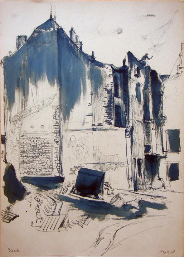 1943 Sierk-les- Bains dessin à l'encre, 24.8 1943