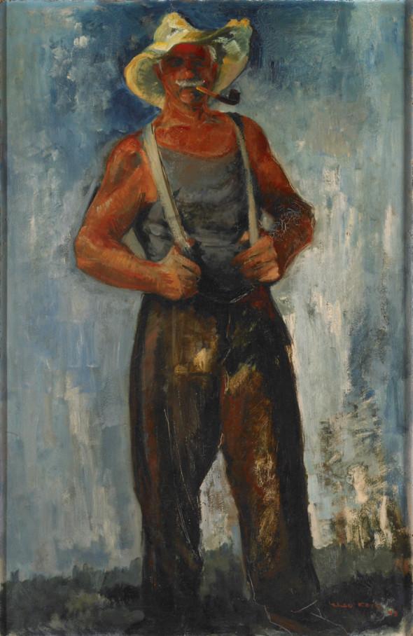 1943 Den Eisenbatti vun Remich, huile sur panneau