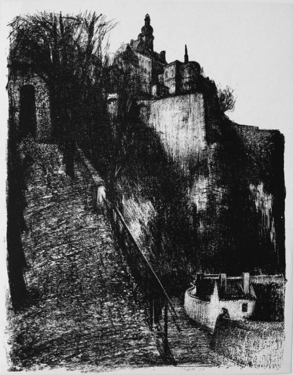 1944 Litho de la série des faubourgs de Luxembourg 1