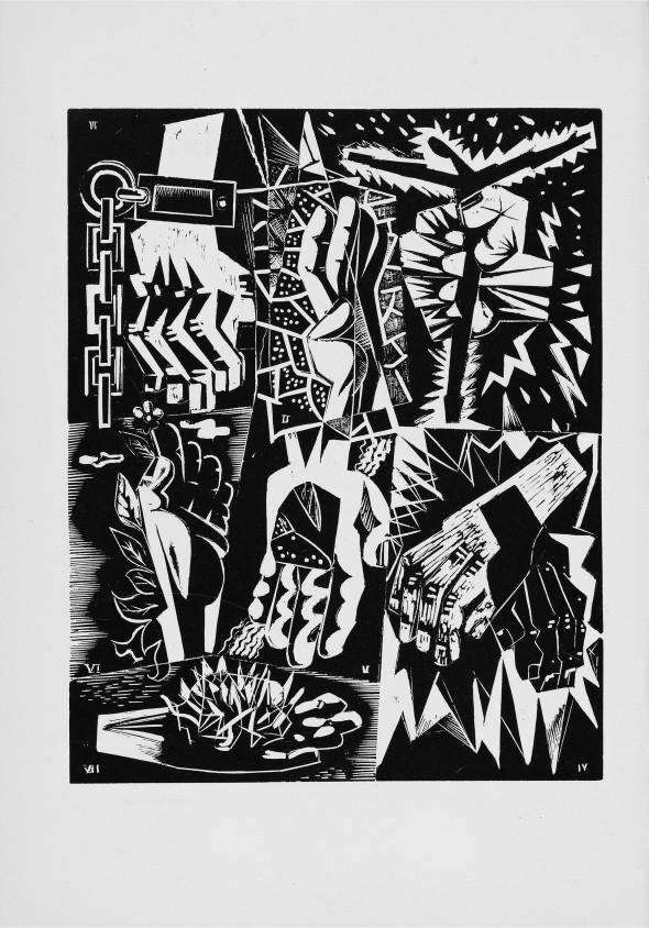 1947 02 Bois gravé pour le livre de Paul Eluard – Dignes de vivre