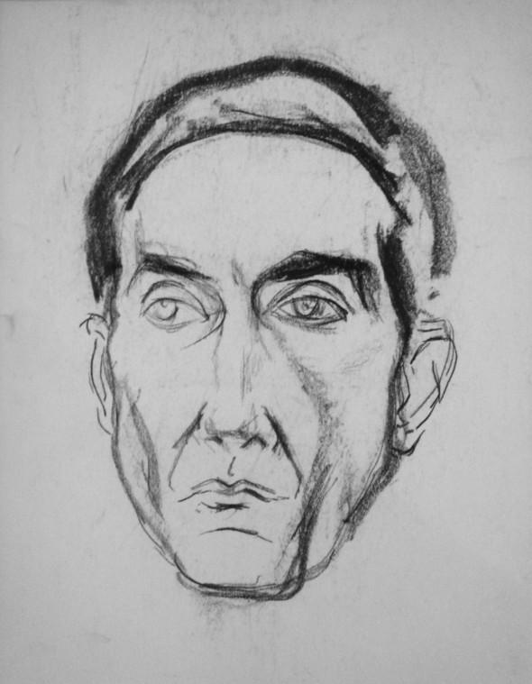 1948 Jean Bouhier, fondateur de l'Ecole de Rochefort, dessin