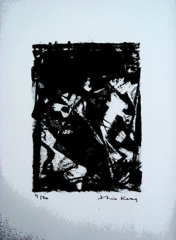 1948 Lithographie pour, Le cimetière marin, de Paul Valéry