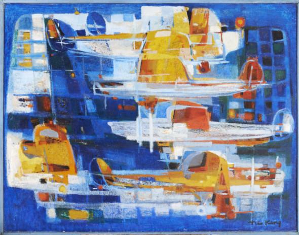 1955 Orly, huile sur toile, 146 x 114 cm, exposée au Musée National d'Histoire et d'Art (MNHA) en 2013-14