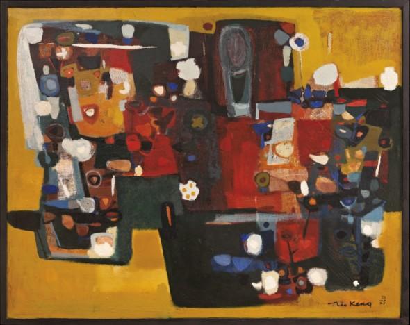 1955 Marguerite, huile sur toile, 146 x 114 cm, exposée au Musée National d'Histoire et d'Art (MNHA) en 2013-2014, collection Musée Théo Kerg Schriesheim