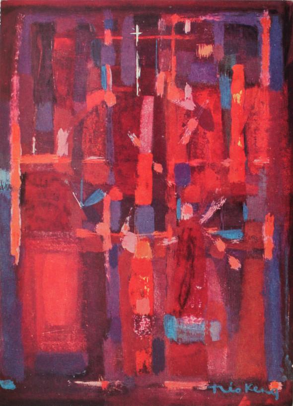 1956 La cathédrale, huile sur toile, 109 x 80 cm (no 7656)