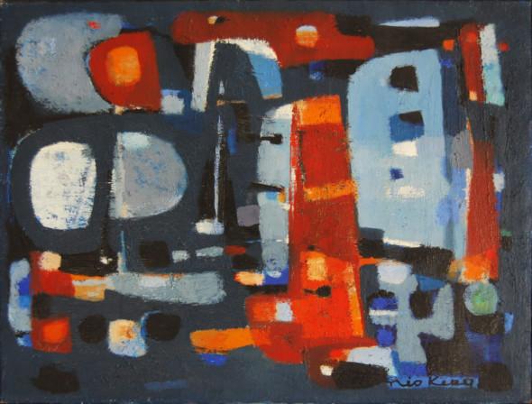 1956 Le soir, huile sur toile, 46×61 cm, 12P, (no 8556)