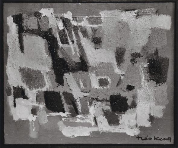 1958 Matin clair, (1957-1958), technique mixte sur toile, photo Théo Mey, Luxembourg