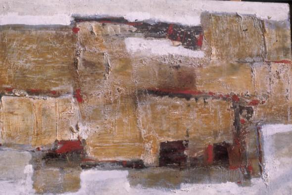 1958 Titre inconnu, technique mixte sur toile
